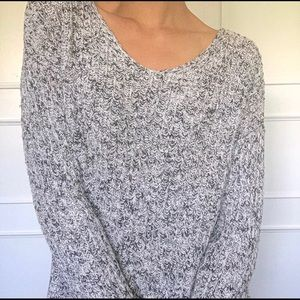 Garage speckled grey sweater